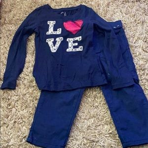 Top from gap size 6-7 capris from Gymboree size 6